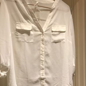 NWT White sheer blouse